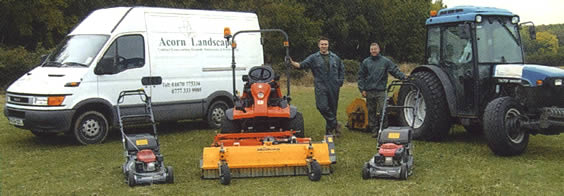 Acorn Landscapes. Contract grass cutting, landscaping and grounds maintenance in Northumberland.